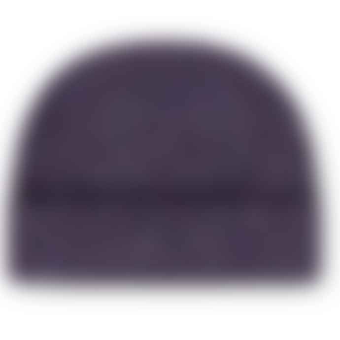 Burrows & Hare  Purple Merino Donegal Wool Beanie Hat