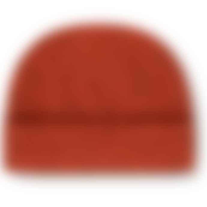 Burrows & Hare  Orange Merino Donegal Wool Beanie Hat