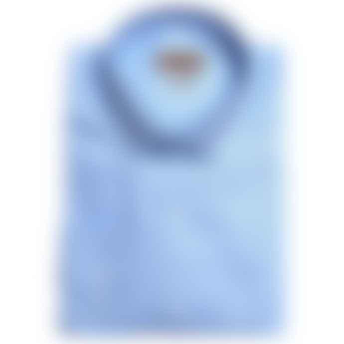 Burrows & Hare  Light Blue Cotton Longsleeve Button Down Shirt