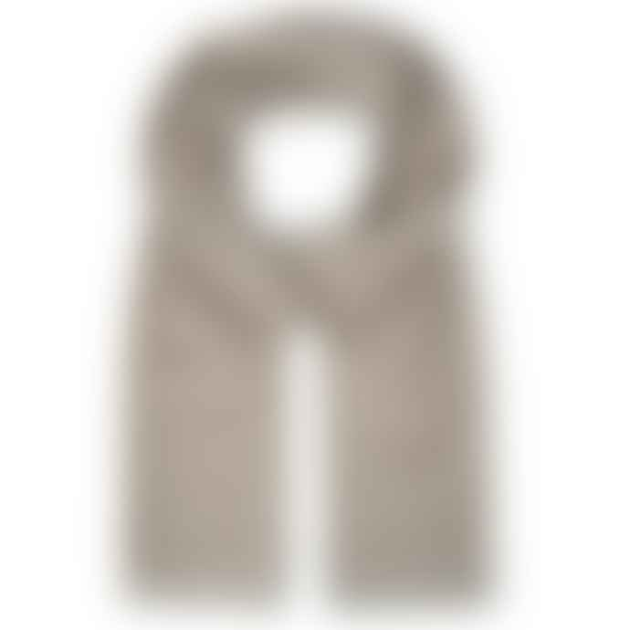Burrows & Hare  Oatmeal Diamond Cashmere Merino Scarf