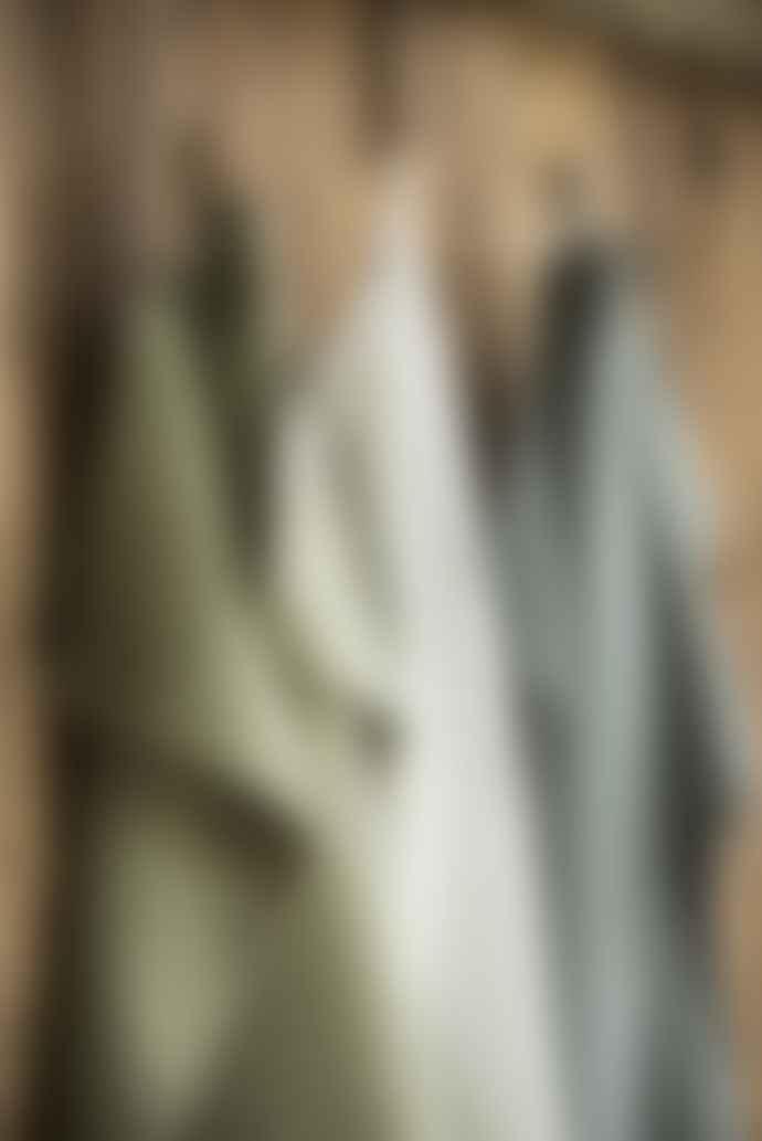 Ib Laursen Moss Green Knitted Cotton Towel