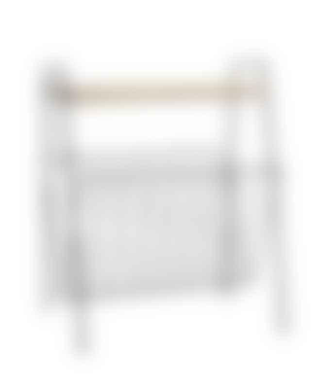 Madam Stoltz Magazine Rack With Shelf
