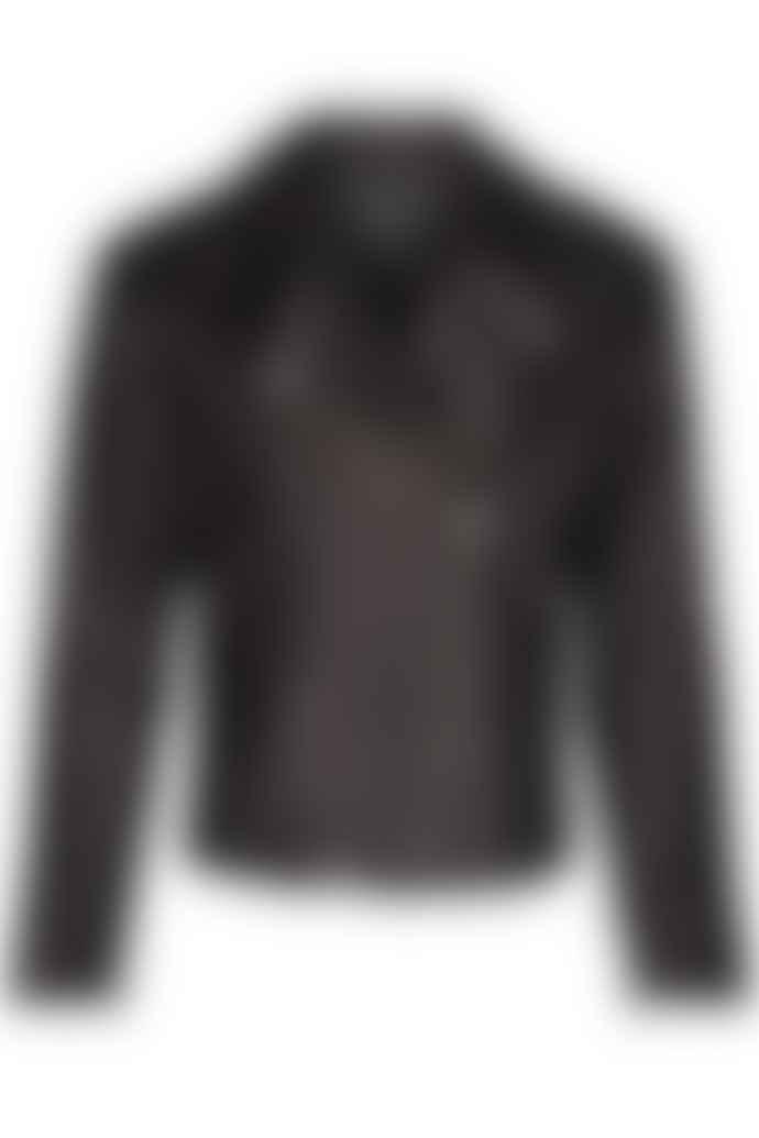 POP Copenhagen Black Leather Biker Jacket