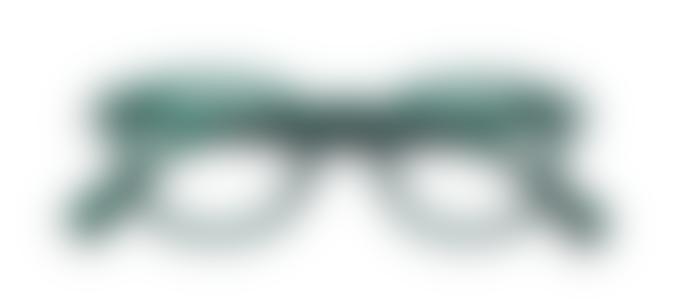 IZIPIZI Reading Glasses in Green Crystal (Frame Shape: #C)