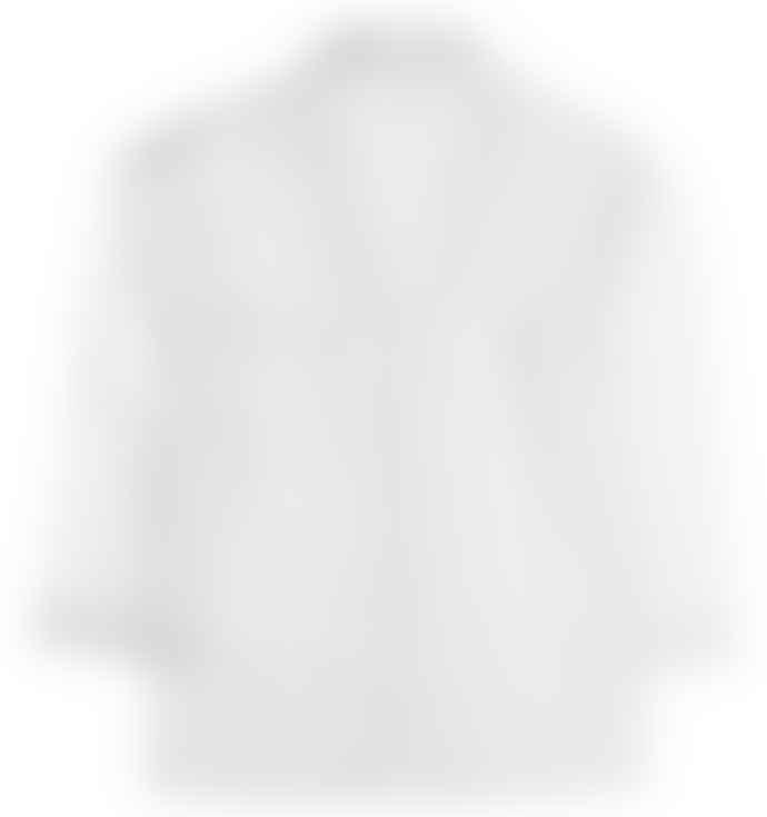 Bodas White Shadow Stripe Pyjama Shirt