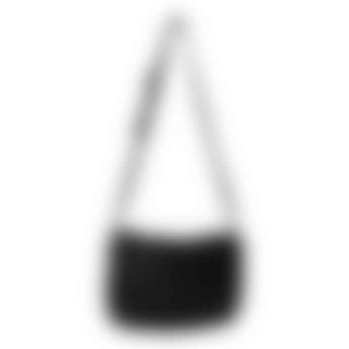 Naterra Asma Soft Leather Fold Over Black Bag