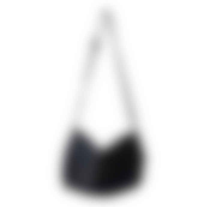 Naterra Lamia Soft Leather Fold Over Black Bag
