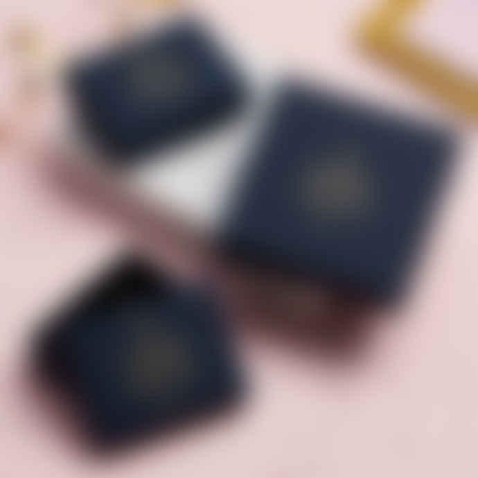 Posh Totty Designs 18ct Rose Gold Plate Chevron Stud Earrings