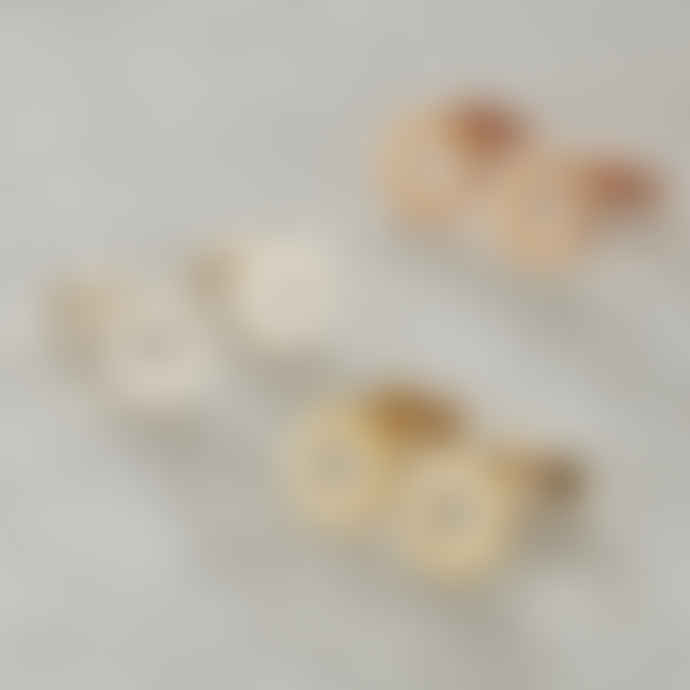 Posh Totty Designs 18ct Gold Plate Scalloped Stud Earrings