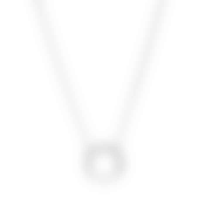 Posh Totty Designs Medium Hoop Sterling Silver Necklace