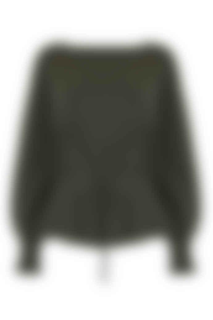 Jovonna London Khaki Jen Corset Knitted Jumper