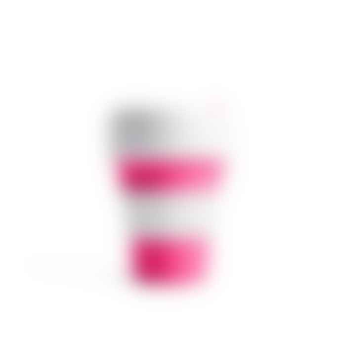 Stojo Pink 12 Oz Collapsible Reusable Pocket Cup