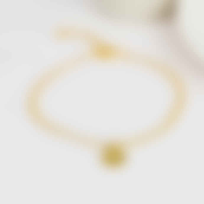One & Eight Gold Disk Bracelet