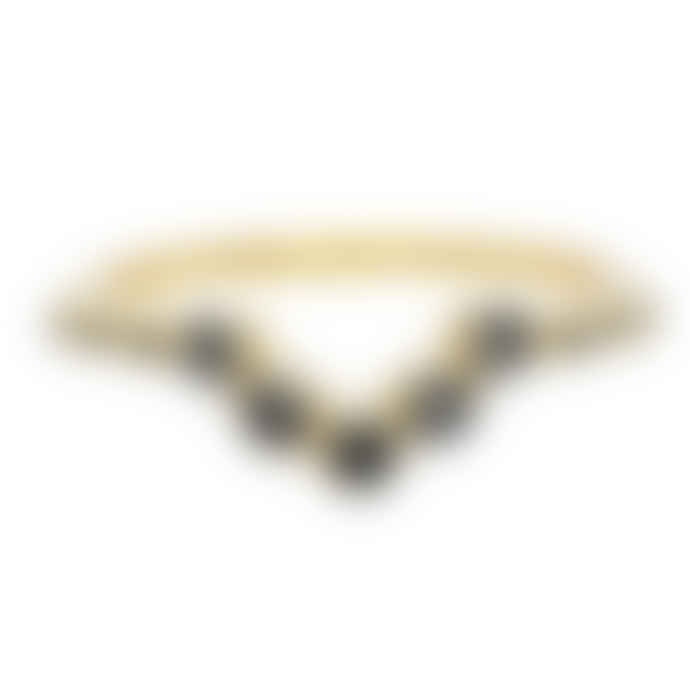 Carousel Jewels  Black Onyx V Shaped Ring