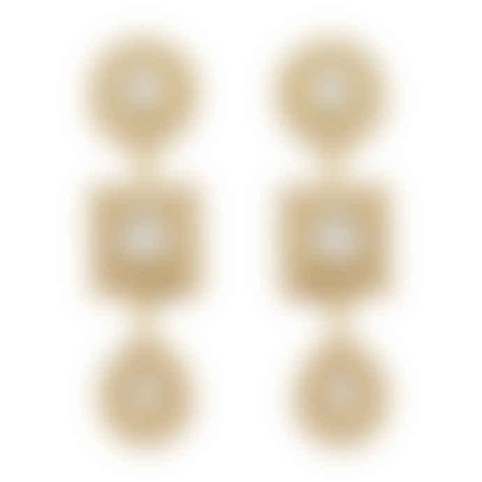 Carousel Jewels  Crystal Quartz Geometric Earrings