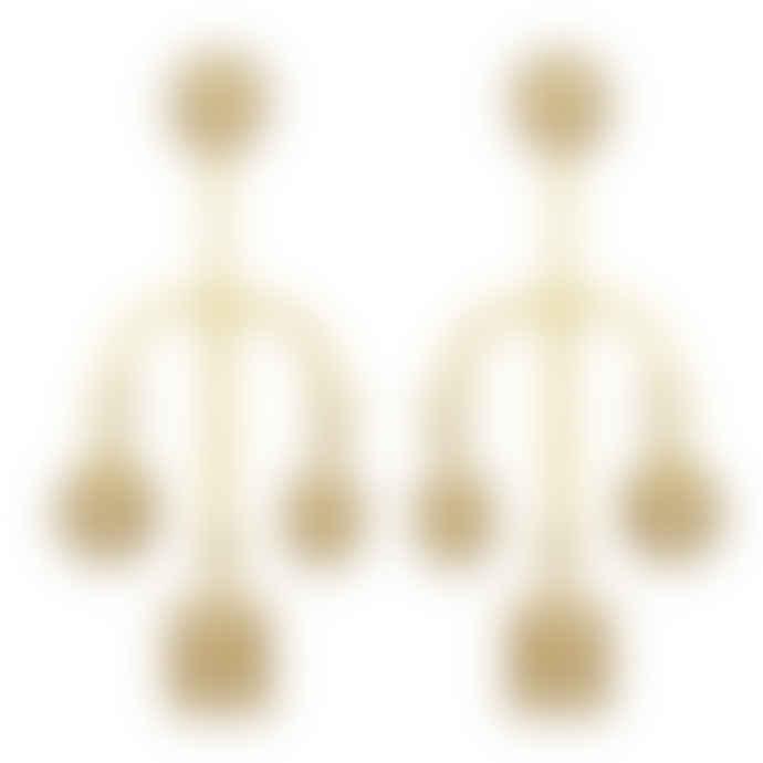 Carousel Jewels  Crystal Quartz Mismatch Earrings