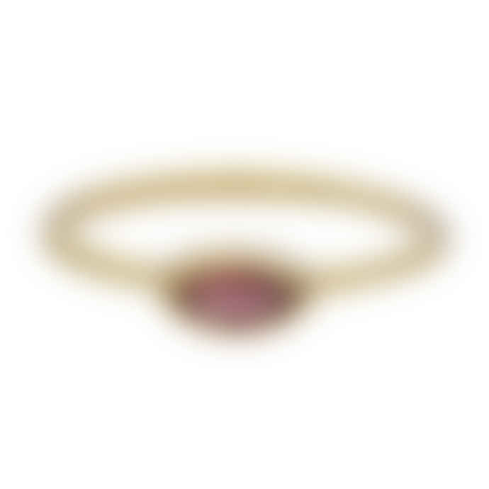 Carousel Jewels  Delicate Garnet Stacking Ring