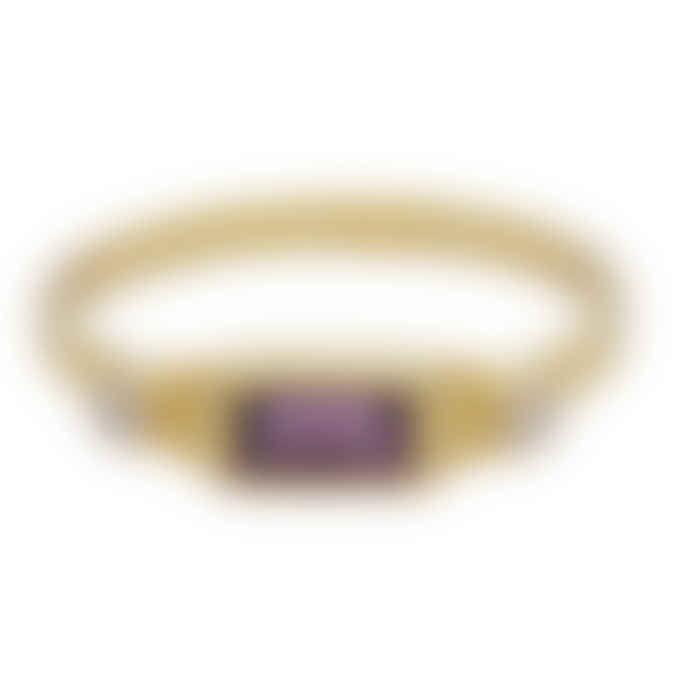 Carousel Jewels  Amethyst And Crystal Rectangle Ring