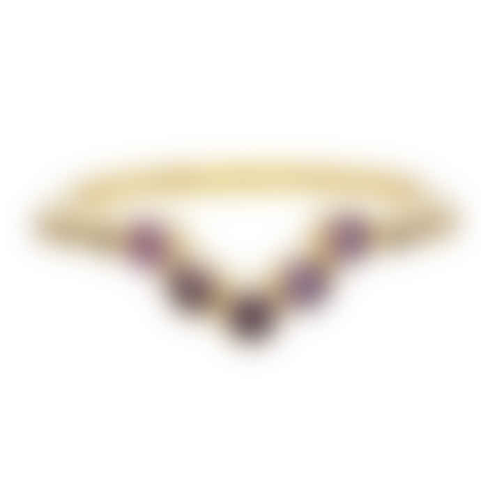 Carousel Jewels  Amethyst V Shaped Ring