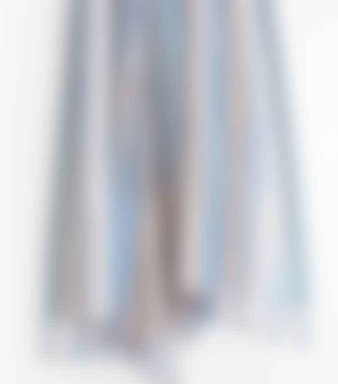 Jamini Azure Blue Anita Cotton Scarf