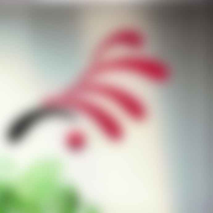 Flensted 30x45Cm Red Flowing Rhythm Mobile