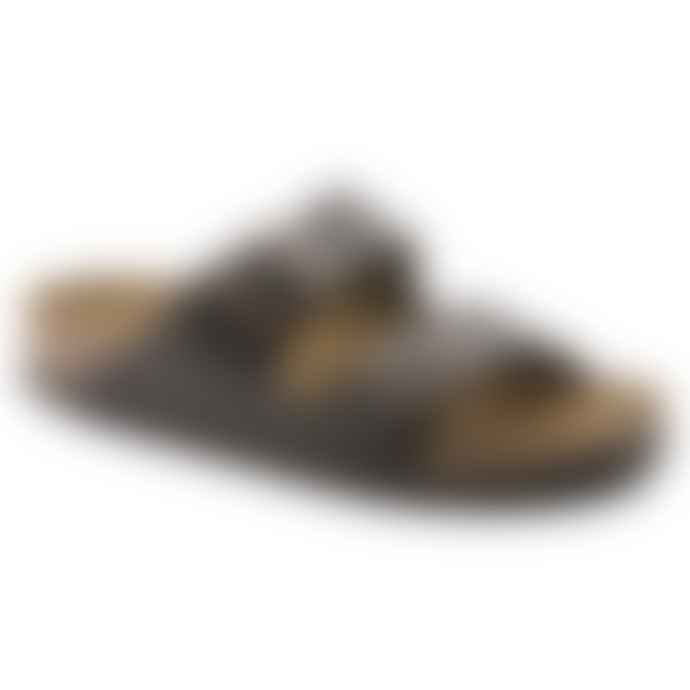 Birkenstock Black And Brown Arizona Bs Leather Sandal