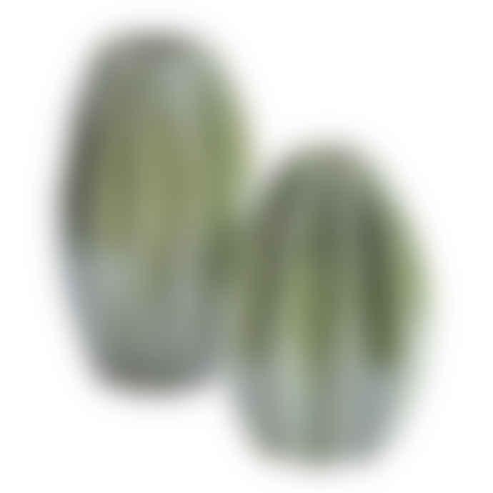 The Libra Company Large Green Ceramic Cactus Vase
