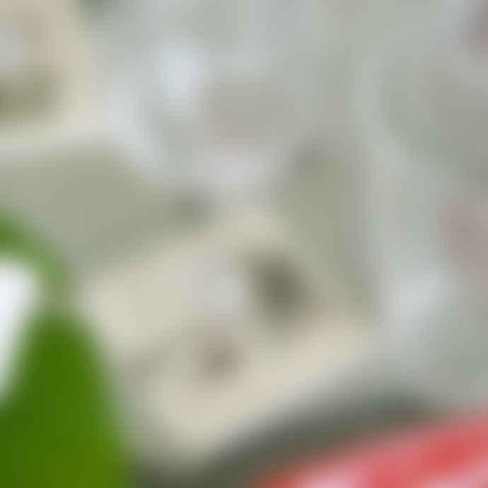 Jenny Blanc 'Green Monkey' Tumbled Italian Marble Coaster