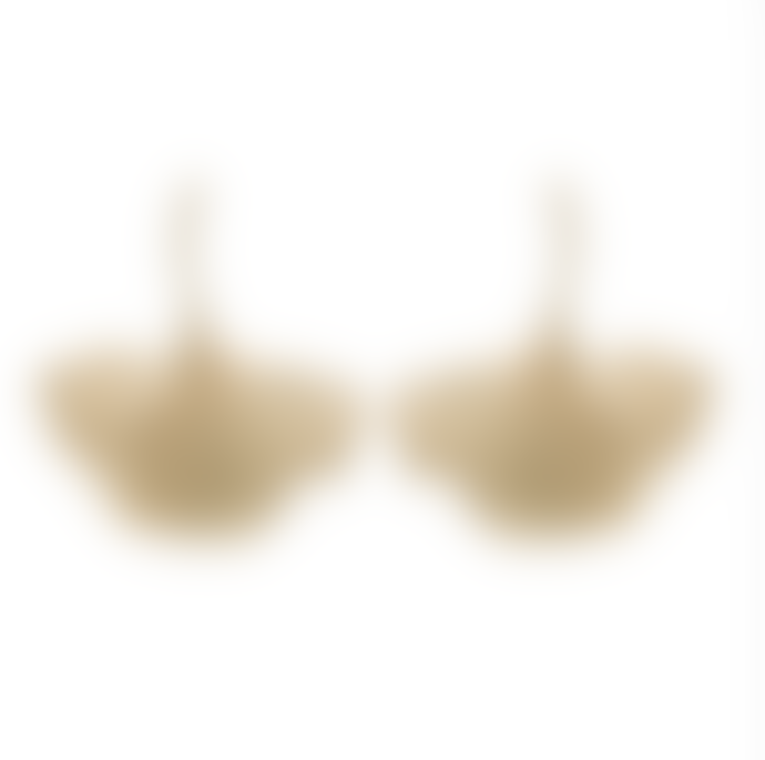 Anna & Nina Brass Goldplated Ginko Earrings