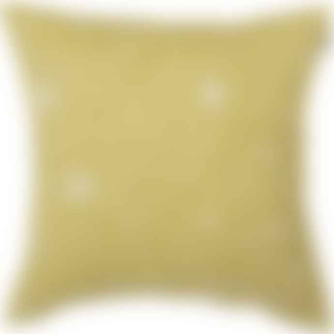 Spira of Sweden Mustard Virvelvind Cushion