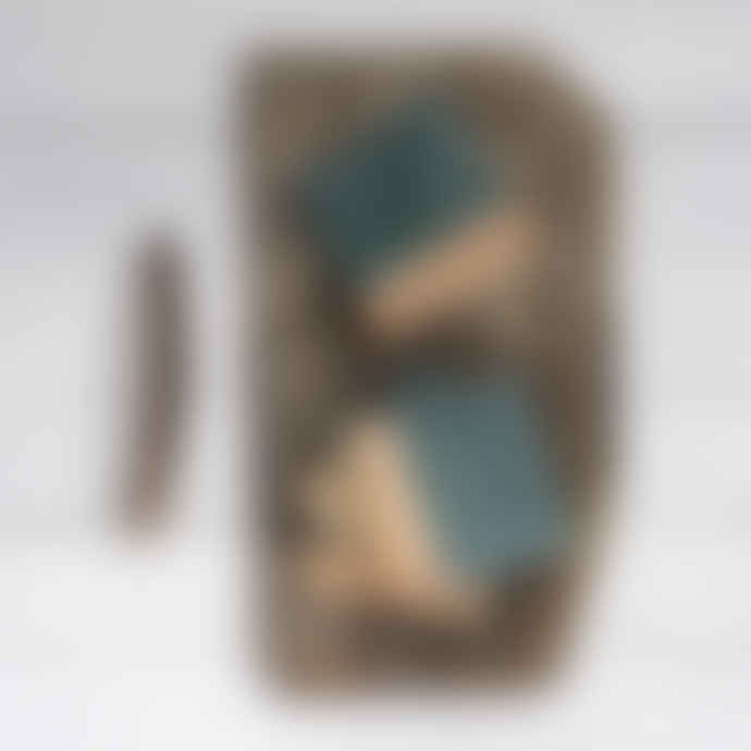 Dassie Artisan Makrana Green Marble and Mango Wood Coasters (set of 4)