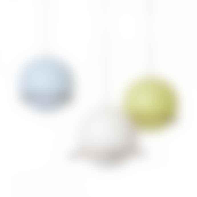 Green & Blue Lime Birdball Peanut Feeder