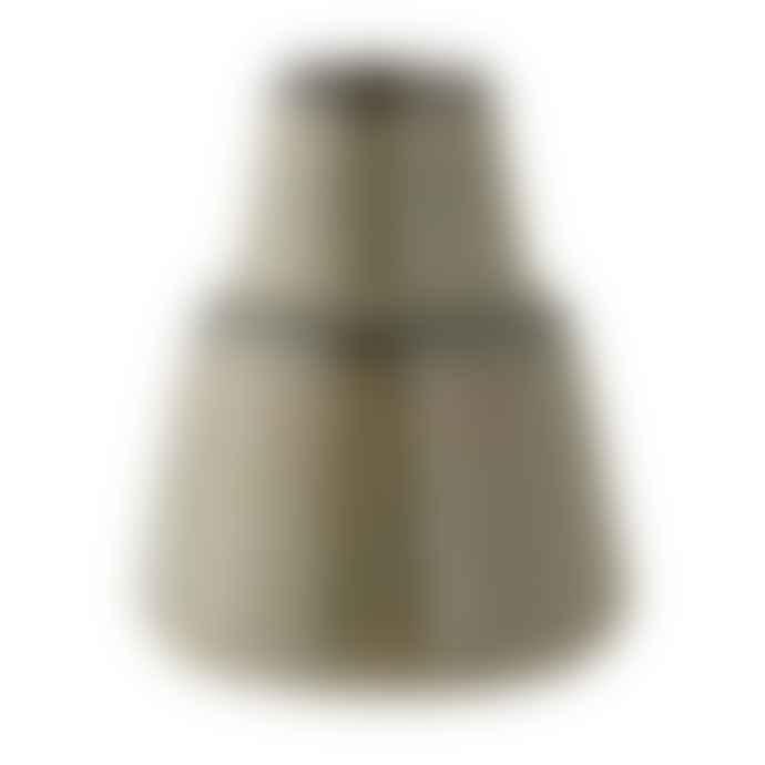 Bloomingville Short Blue Stoneware Vase
