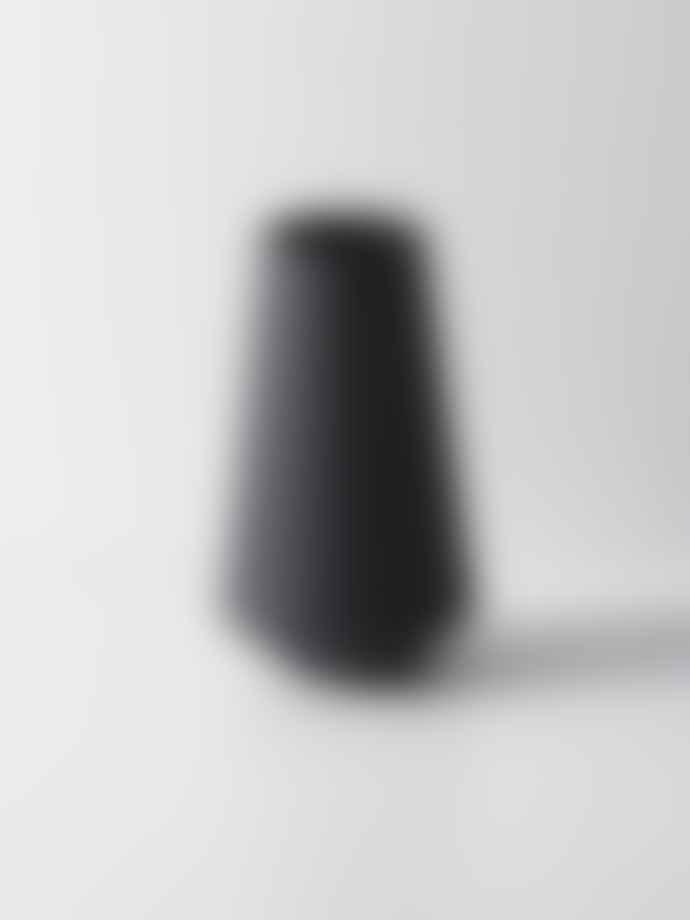 Ferm Living Well Dark Grey Sculpt Vase