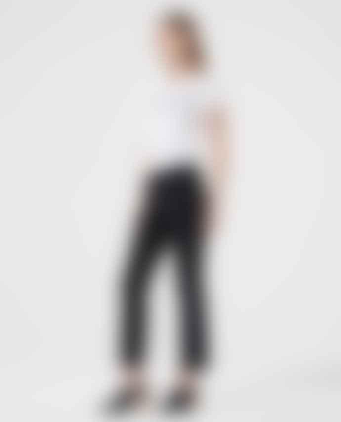 AG Jeans Black Suede Effect Jodi Crop Jeans