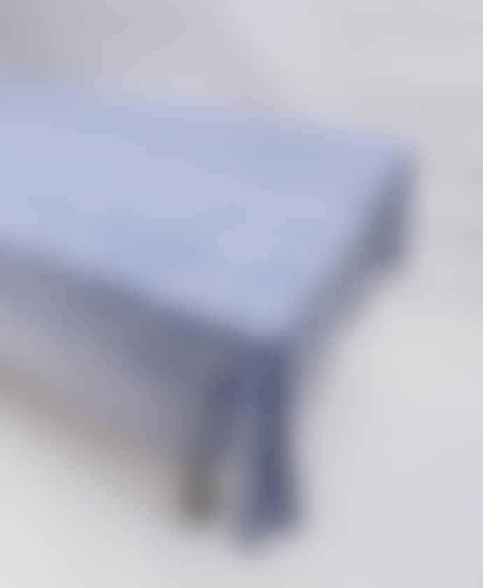 Indigo & Wills Medium Blue Pomegranate Design Cotton Tablecloth