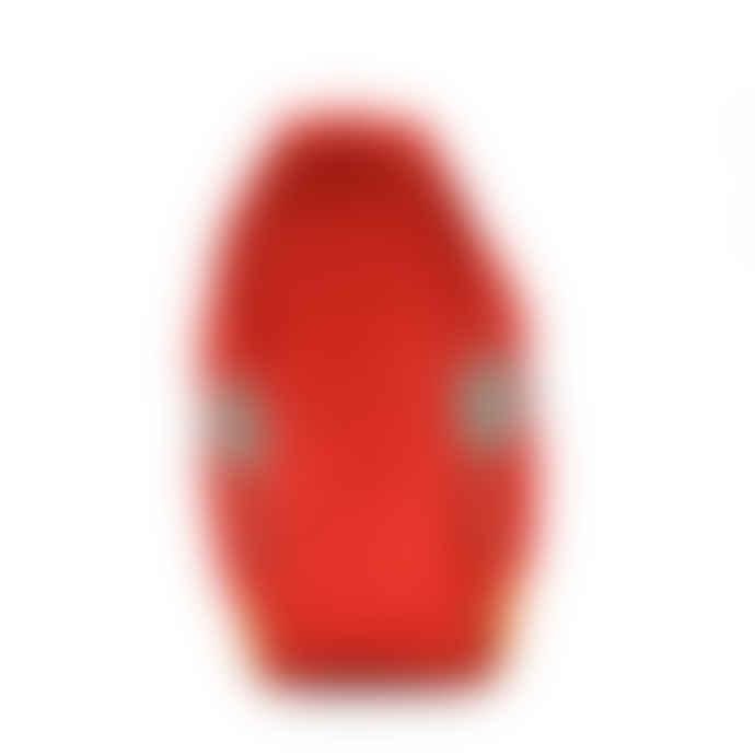 Karma Beach Coral Red Palm Print Beach Clutch Bag