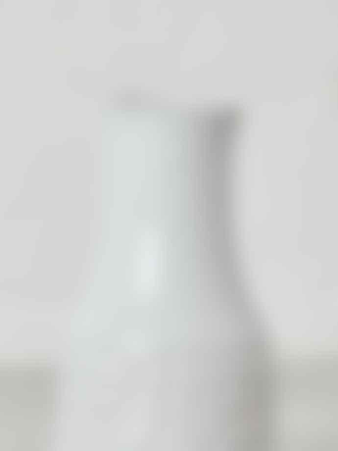 Bloomingville White Textured Terracotta Vase
