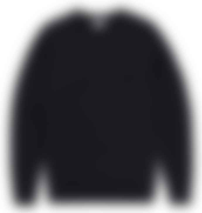 Sunspel Black Loopback Crew Sweatshirt