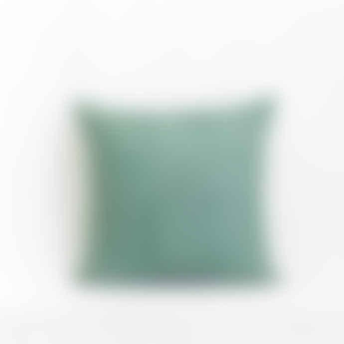 Jamini Green 16x16 Clara Embroidered Pillowcase
