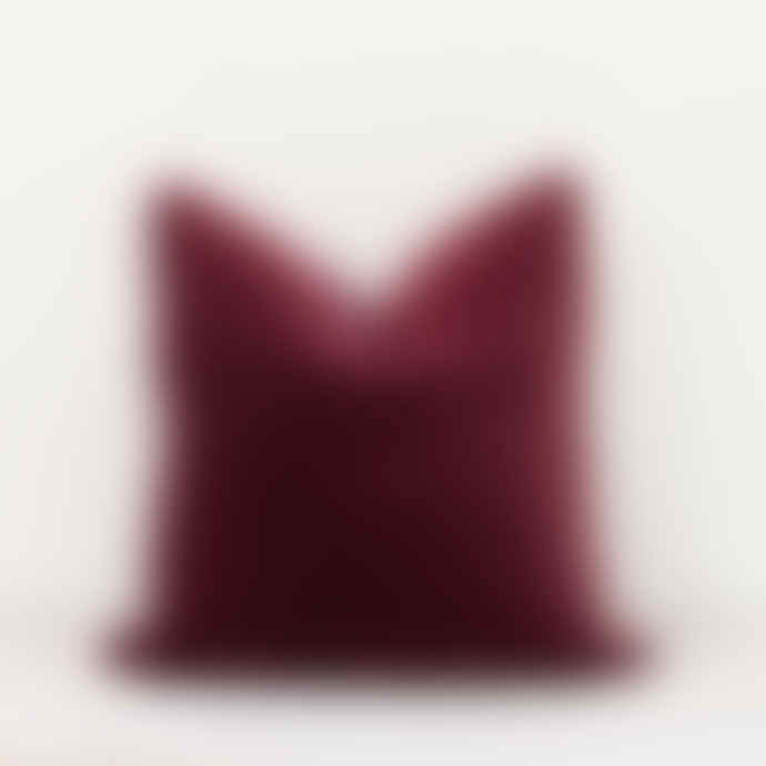Also Home Lingonberry  Unari Velvet Cushion