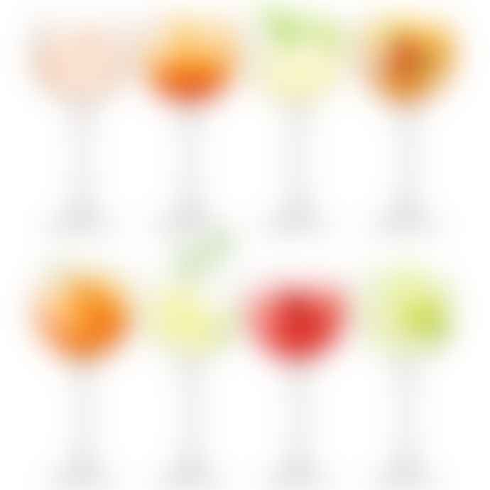 LSA International Set Of 8 Glass Balloon Goblet