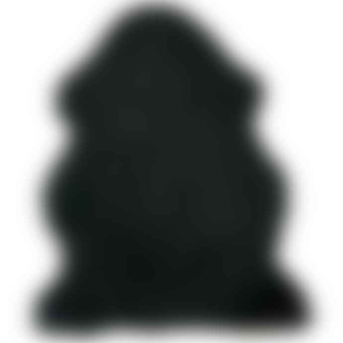 Hanlin Ltd Curly Sheepskin Rug Black