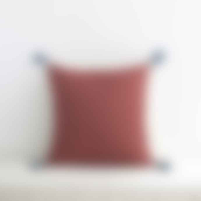 Jamini Brick Red 16x16 Ashima Pillowcase