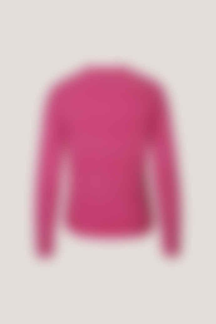 Samsoe & Samsoe Fuschia Melange Eta O Neck Sweater