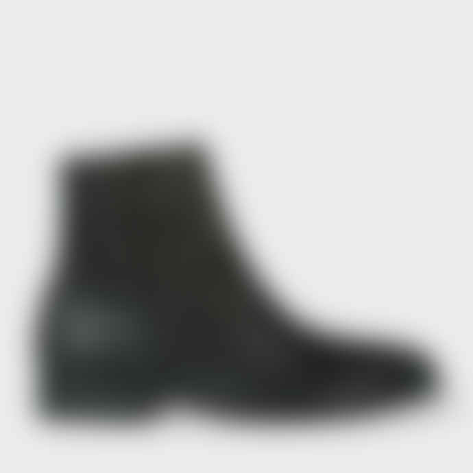 Paul Smith Black Brooklyn Leather Ankle Boots