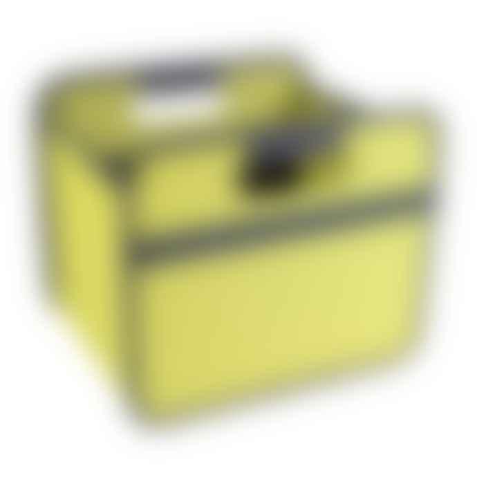 Meori Heavy Duty Premium Foldable Storage Carry Box Small Dots Green