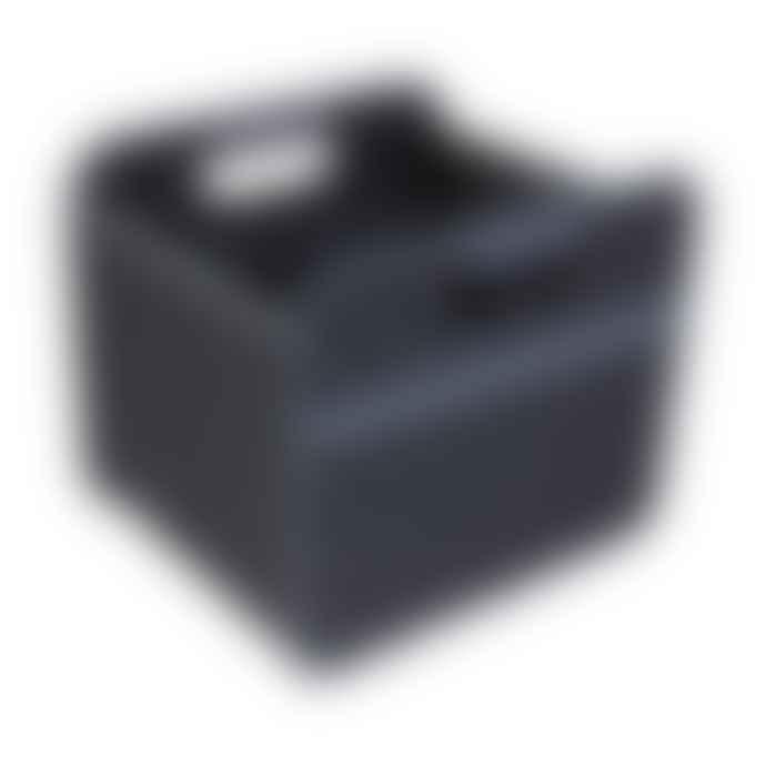 Meori Heavy Duty Premium Foldable Storage Carry Box Small Dots Black