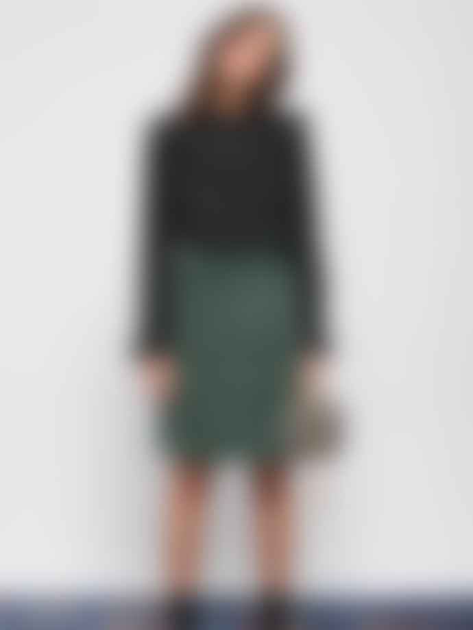 Leon & Harper Green Jubile Velvet Cord Skirt