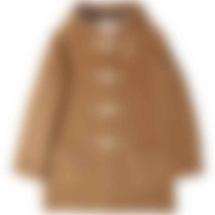 Burrows & Hare  Brown Water Repellent Wool Duffle Coat